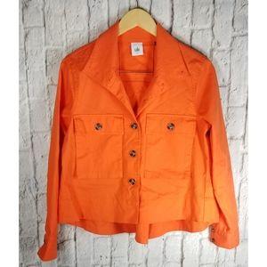 CAbi Orange Swing Jacket Coat Sz S M #5098